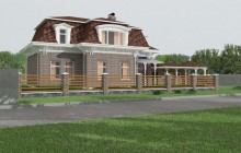 Design of the restaurant Cottage in the Chabany village (1)