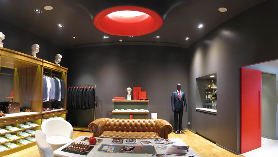 Design of the restaurant Shop Isaia Vladimirskaya Street 20