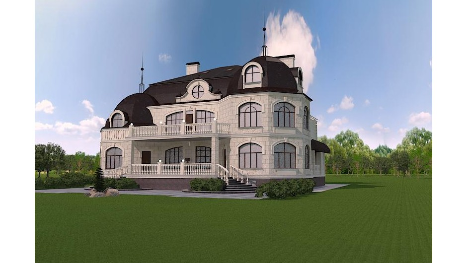 Design of the restaurant House project in the French style
