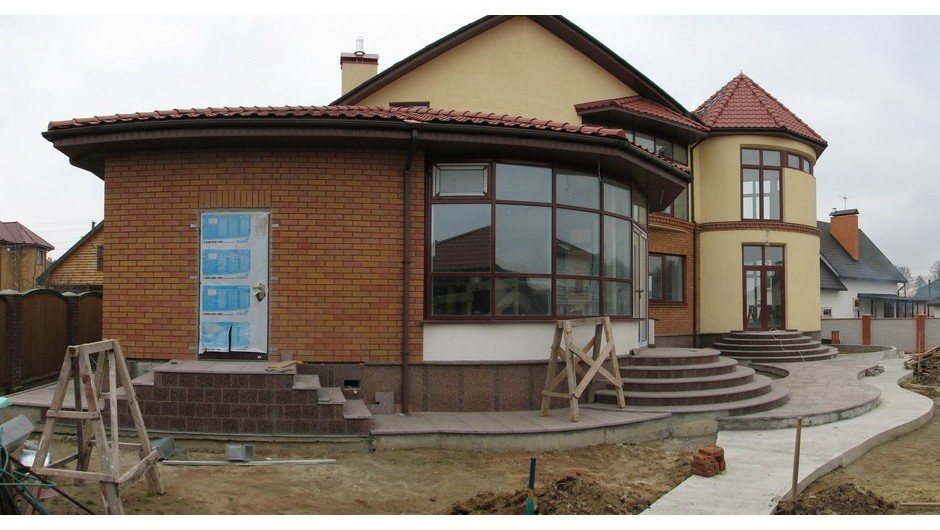 Design of the restaurant Cottage in the Vita-Poctovaya village